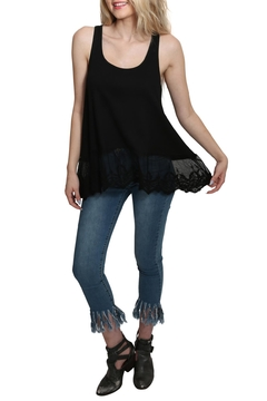 Shoptiques Product: Ribbed Tank Lace Top
