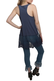 Umgee USA Ribbed Tank Lace Top - Side cropped
