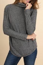 Umgee USA Ribbed Turtleneck Top - Product Mini Image