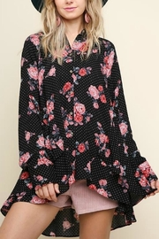 Umgee USA Romance Floral Polka-Dot - Front cropped