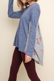 Umgee USA Rose Slubbed Top - Front cropped