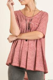 Umgee USA Rose Washed Top - Product Mini Image