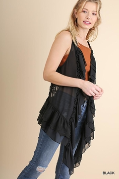 Umgee USA Ruffle And Lace Vest - Product List Image