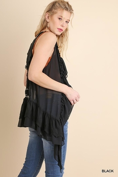 Umgee USA Ruffle And Lace Vest - Alternate List Image