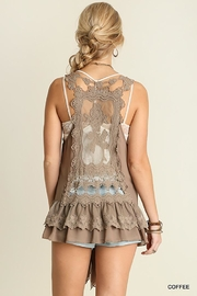 Umgee USA Ruffle And Lace Vest - Side cropped