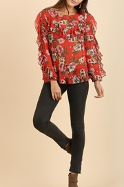 Umgee USA Ruffle Floral Blouse - Product Mini Image