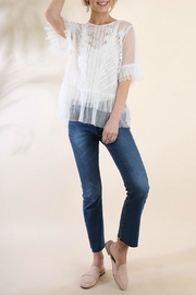 Umgee USA Ruffle Lace Top - Front cropped