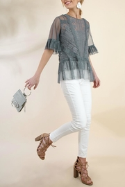 Umgee USA Ruffle Lace Top - Product Mini Image