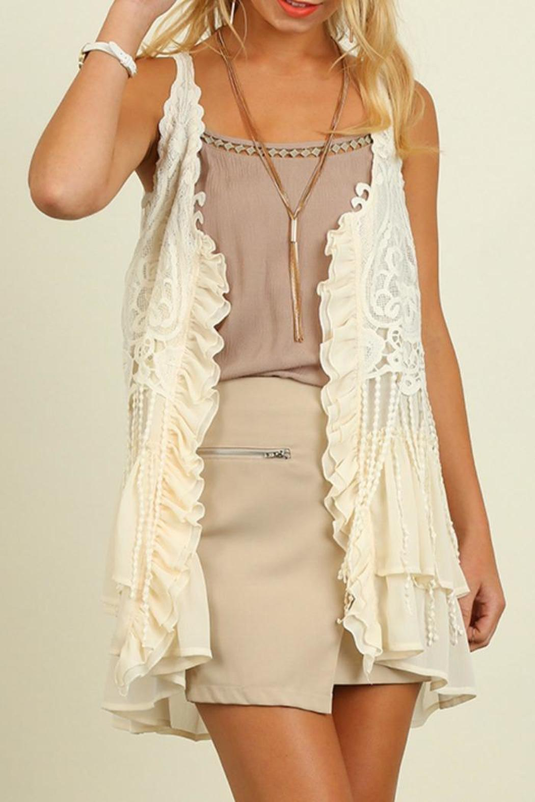 27b2949eb101c Umgee USA Ruffle   Lace Vest from Franklin by Adalees — Shoptiques