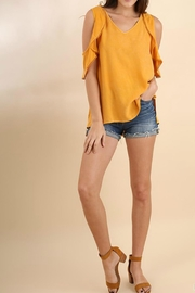 Umgee USA Ruffle Open Shoulder - Front cropped
