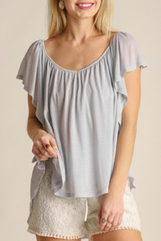 Umgee USA Ruffle Short-Sleeve Top - Front cropped
