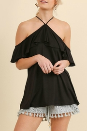 Umgee USA Ruffle Sleeve Top - Product Mini Image