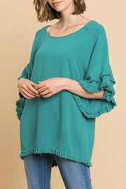 Umgee USA Ruffled Sleeve Top - Front cropped