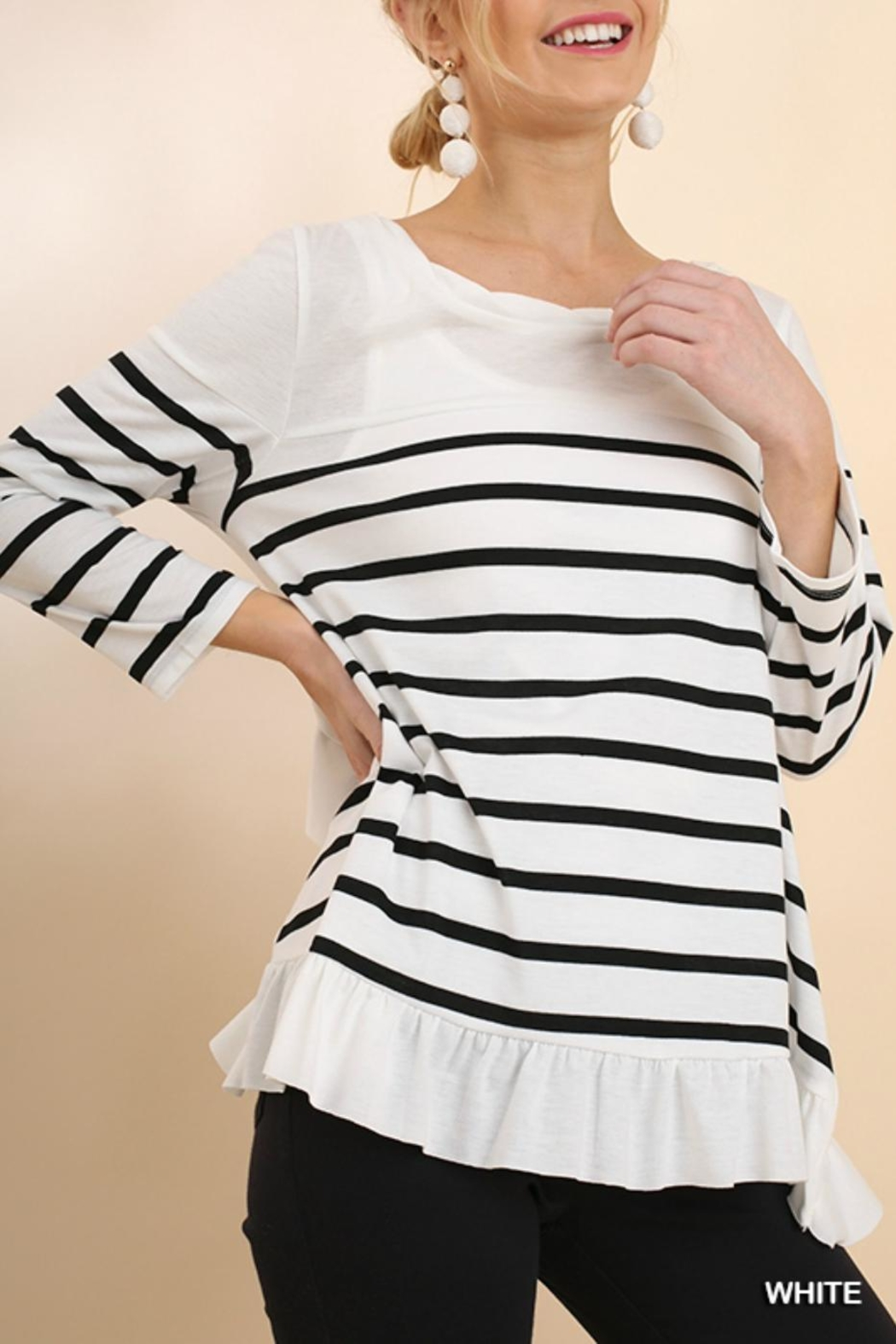 Umgee USA Ruffles And Stripes - Front Cropped Image