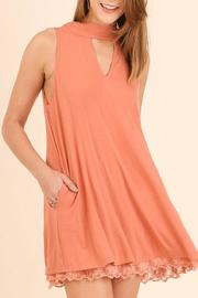 Umgee USA Salmon Lace Dress - Product Mini Image
