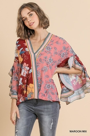 Umgee USA Scallop Sleeve V-Neck - Product Mini Image