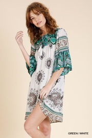 Umgee USA Scarf Print Dress - Product Mini Image