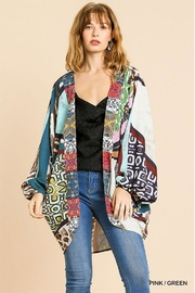 Umgee USA Scoop Hem Kimono - Product Mini Image