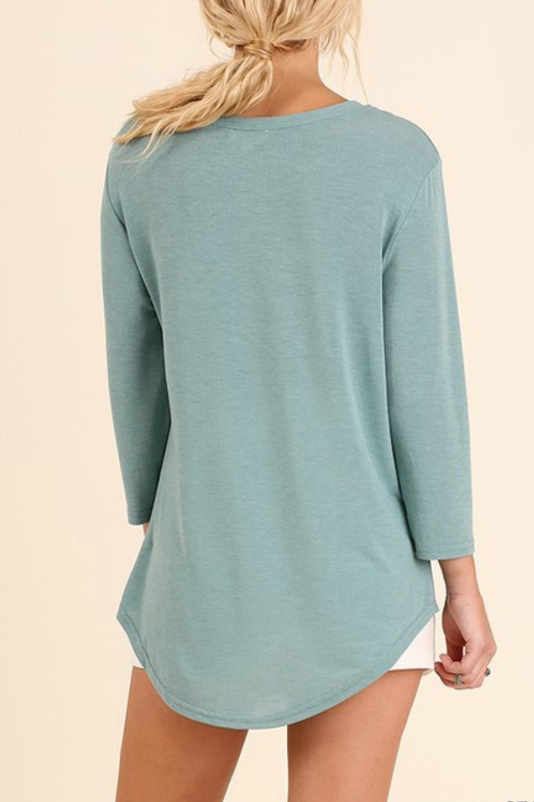 Umgee USA Seafoam Relaxed Tee - Front Full Image
