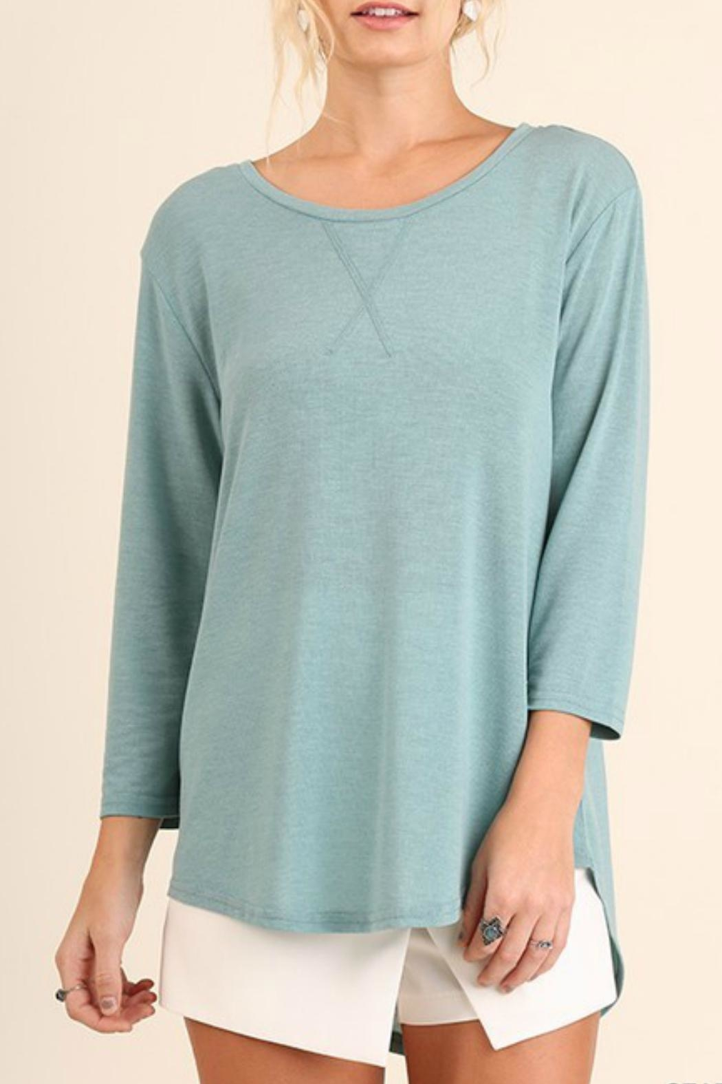 Umgee USA Seafoam Relaxed Tee - Front Cropped Image