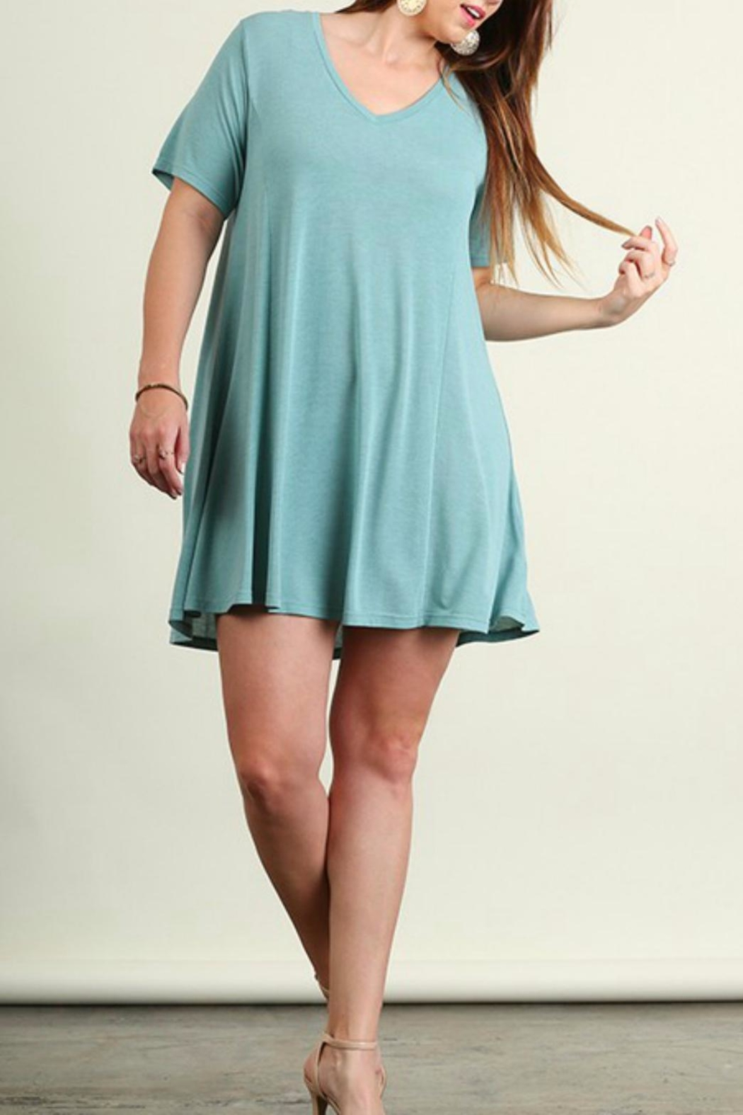 Umgee USA Fit And Flare Dress - Front Full Image