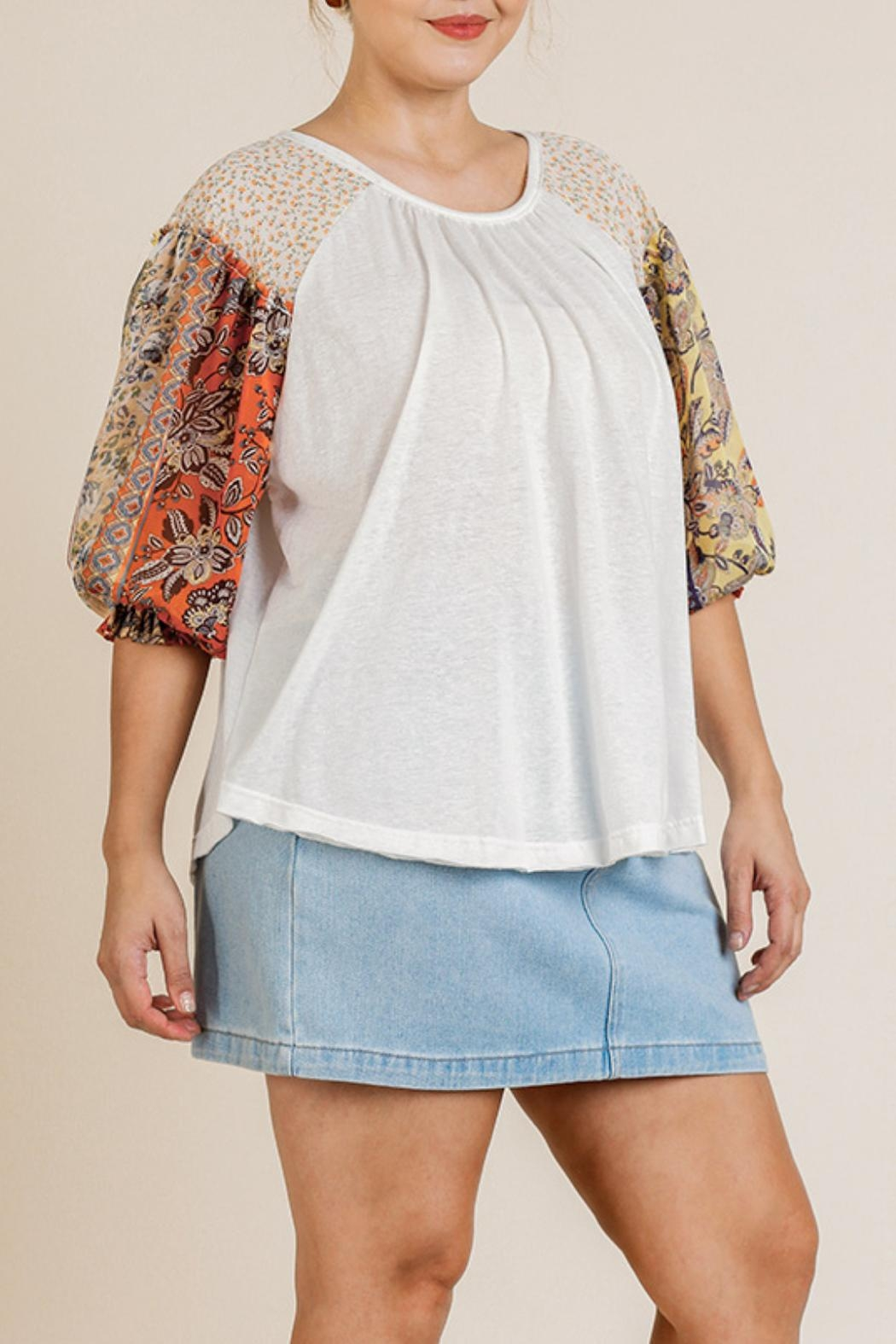 Umgee USA Sheer Puff-Sleeve Top - Main Image