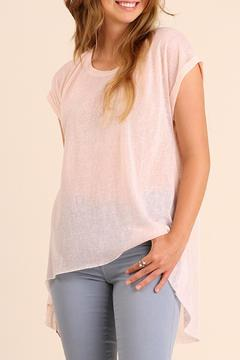 Shoptiques Product: Sheer Shortsleeve Top