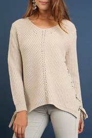 Umgee USA Side Lace-Up Sweater - Product Mini Image