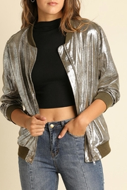 Umgee USA Silve Metallic Jacket - Front cropped