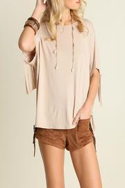 Umgee USA Simple Fringe Top - Product Mini Image