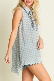 Umgee USA Sleeveless Checkered Tunic - Product Mini Image