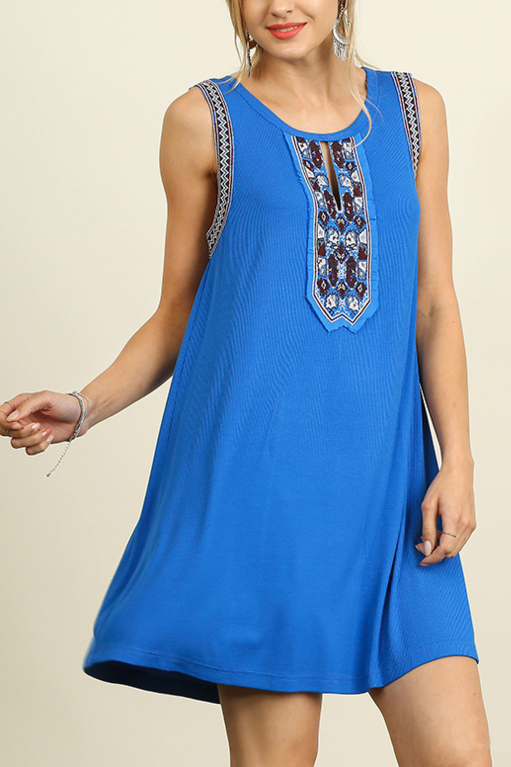 Umgee USA Sleeveless Dress - Front Full Image