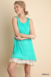 Umgee USA Sleeveless Dress With Lace Detail - Product Mini Image