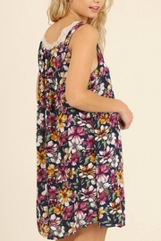 Umgee USA Sleeveless Floral Dress - Back cropped