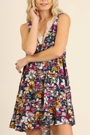 Umgee USA Sleeveless Floral Dress - Front full body