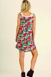 Umgee USA Sleeveless Floral Dress - Side cropped