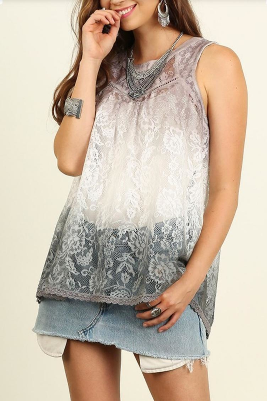 Umgee USA Sleeveless Lace Top - Main Image