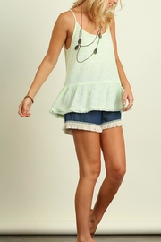 Umgee USA Sleeveless Marled Top - Front full body