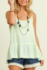 Umgee USA Sleeveless Marled Top - Product Mini Image