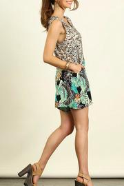 Umgee USA Sleeveless Print Romper - Side cropped