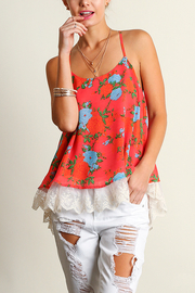 Umgee USA Sleeveless Print Top - Front cropped