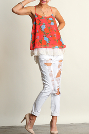 Umgee USA Sleeveless Print Top - Front full body