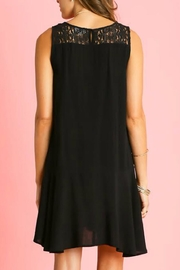 Umgee USA Sleeveless Ruffle Dress - Front full body