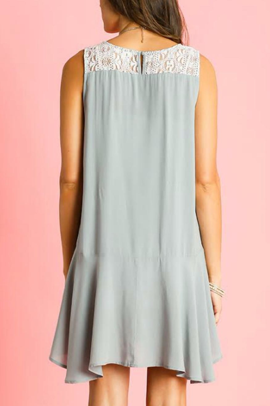 Umgee USA Sleeveless Ruffle Dress - Front Full Image