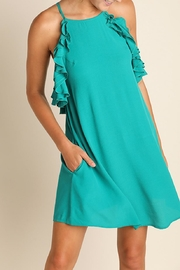 Umgee USA Sleeveless Ruffled Dress - Product Mini Image