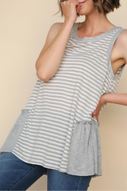 Umgee USA Sleeveless Striped Top - Front cropped