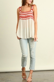 Umgee USA Sleeveless Embroidered Top - Product Mini Image