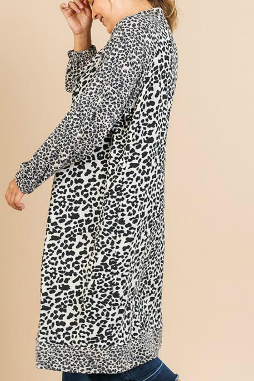Umgee USA Soft Leopard Cardigan - Front Full Image