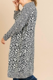 Umgee USA Soft Leopard Cardigan - Front full body