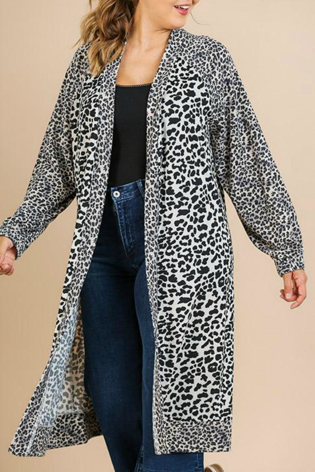 Umgee USA Soft Leopard Cardigan - Front Cropped Image